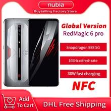 DHL משלוח המקורי גלובלי גרסת RedMagic 6 פרו משחקים MobilePhone Snapdragon 888 אוקטה Core 165Hz AMOLED אדום קסם 6 פרו