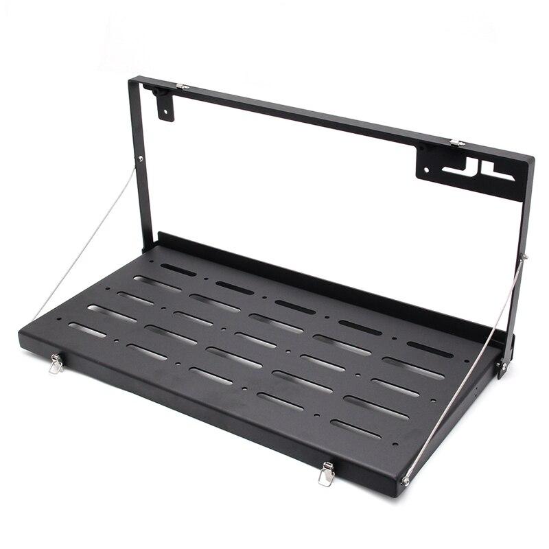Hayon Table porte arrière Table de rangement Cargo étagère Rack en alliage d'aluminium noir arrière pliable arrière étagère pour Jeep Wrangler JL