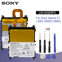 SONY Original LIS1525ERPC Phone Battery 3000mAh For Xperia Z1 C6902 C6903 L39h Replacement Batteria + Free Tools