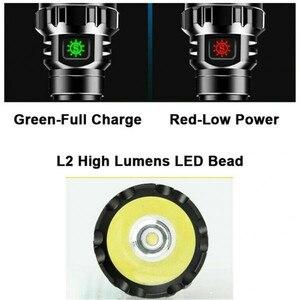 Портативный наружный USB Перезаряжаемый водонепроницаемый супер яркий светодиодный фонарь светильник лампа