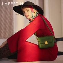 LA FESTIN  2020 new retro all-match lizard pattern leather knight saddle bag women's shoulder messenger handbag trend Designer