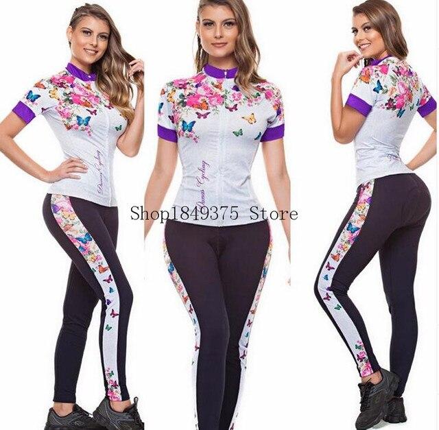 Macacão feminino triathlon profissional, roupa de ciclismo, camisa de manga curta, calça longa, macacão para andar de bicicleta 4