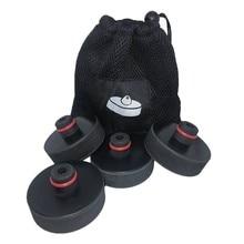 4 pçs de borracha levantamento jack almofada adaptador chassi ferramenta com caso armazenamento para tesla model 3 modelo s modelo x acessórios do carro