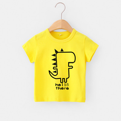 VIDMID 2-6Y boys Clothing Summer Children Infant Kid Boys shirts basic Cartoon Dinosaur Letter T-shirt Tops Shirts Tees 4018 31 5