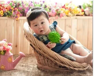 Newborn Photography Props Auxiliary Props Baby Basket Hundred Days Baby Basket Studio Shooting Creative Basket Props Toy Gift