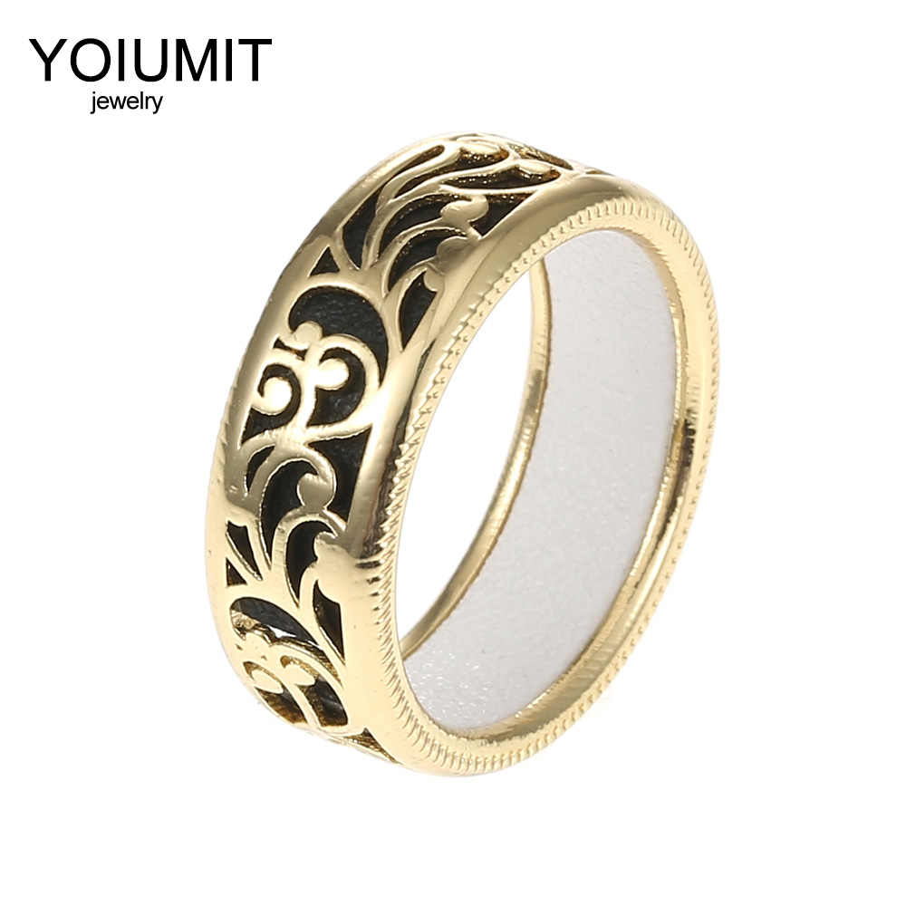 Cremo Flower Rings Women Interchangeable Cuir Hollow Leather Ring Elegant Bijoux Femme Georgettes Rings Argent Cocktail Bague