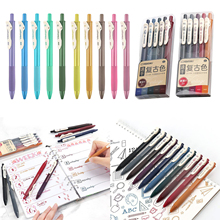 5Pcs Retractable Gel Ink Pens Colored Pens Markers Drawing Pens for Bullet Journaling Writing Note Taking Calendar Coloring