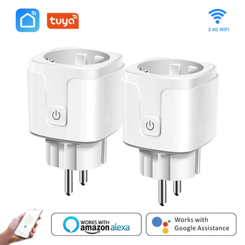 Smart WiFi Plug Adaptor 16A Remote Voice Control Power Monitor Socket Outlet Timing Function Work With Alexa Google Home Tuya 1