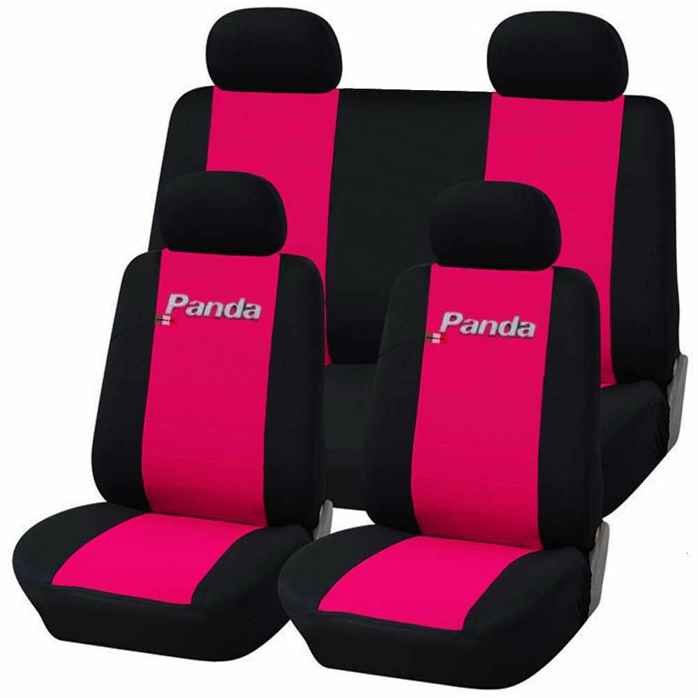 COPRISEDILI AUTO FIAT PANDA DAL 2012 di trasporto POSTER. 1/3-2/3 BICOLORE FUCSIA-NERO