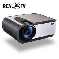 Real TV H89 Full HD LED Proyector 2200 lúmenes cine WIFI Miracast/Airplay Proyector HDMI USB AV VGA SD