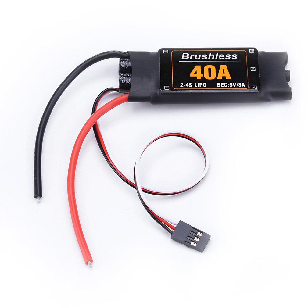 40A Brushless ESC Drone Airplanes Parts Components Accessories Speed Controller Motor RC Toys FPV Durable Quadcopter Helicopter