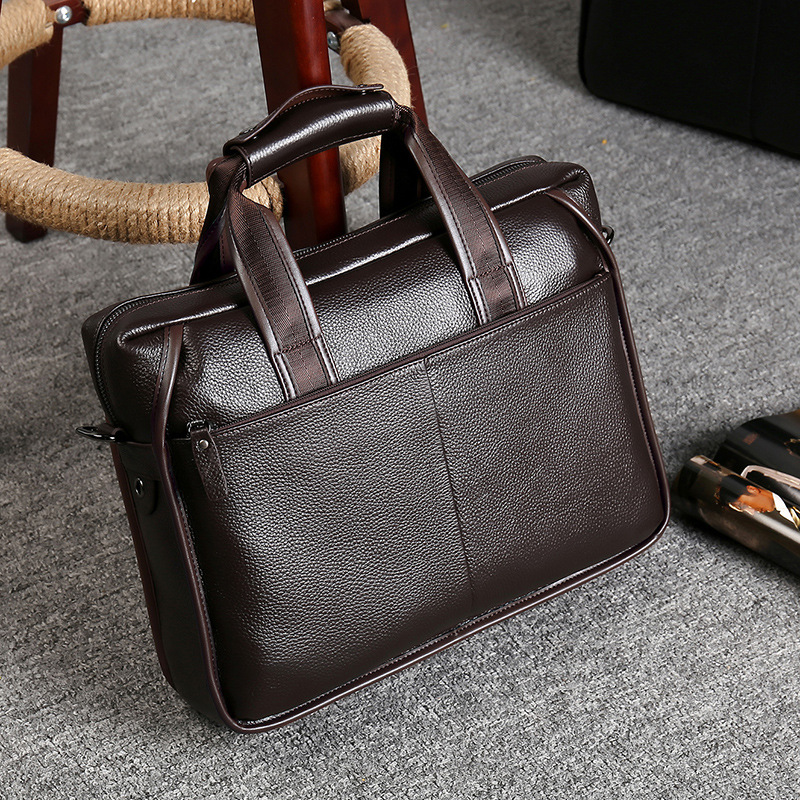 Luxury Men Vintage Genuine Leather Briefcase Business Laptop Bags Men Designer Handbags Messenger Bag High Quality Bolso Hombre