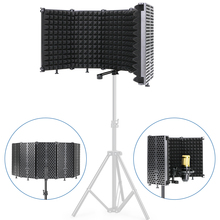 Profession Broadcast studio Microphone Pop Filter Wind Screen Mic Shield Plate Foldable Isolation Shield for bm 800 Microphone