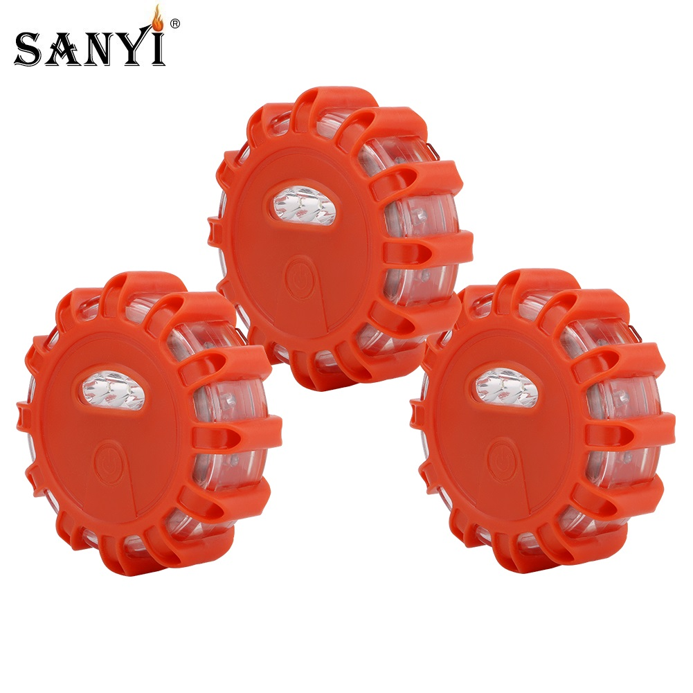Red Yellow White LED Emergency Car Light Magnetic Flashlight Safety Warning Night Lights Road Disc Beacon Flare Lights for Truck(China)