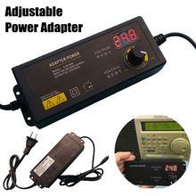Adaptateur d'alimentation électrique universel AC 100-240V à DC 3-24V, avec écran d'affichage, tension régulée, prise US/ue