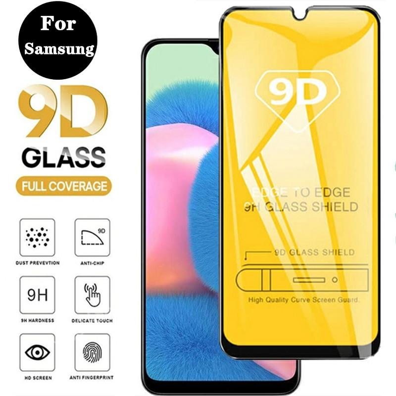 Закаленное стекло с полным покрытием для Samsung Galaxy A10 A20 A30 A40 A50 A60 A70 S, Защита экрана для A80 A90 M10 M20 M30 M40 S, стекло