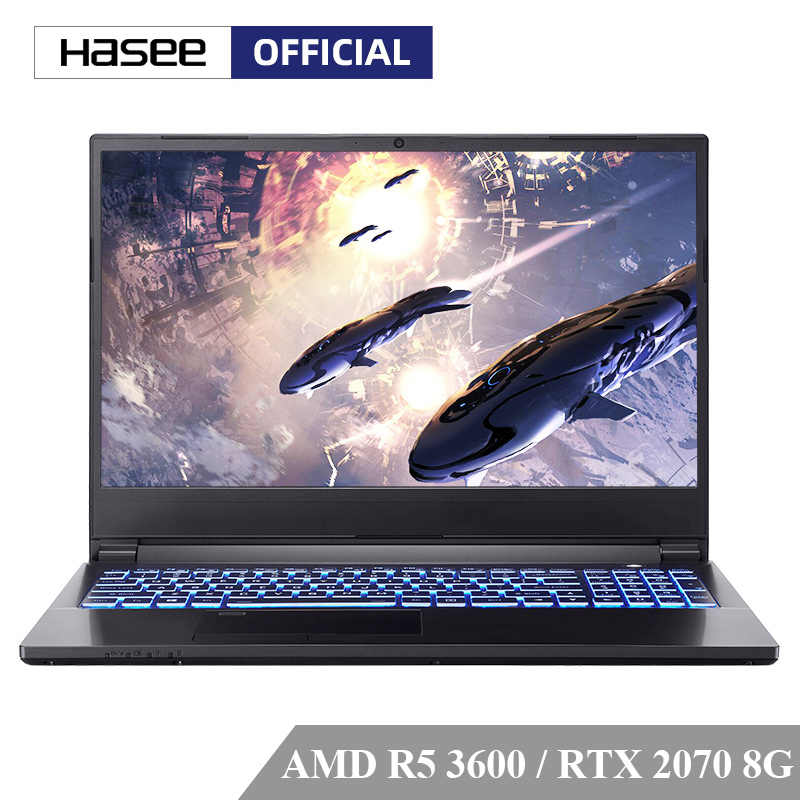 "HASEE M7-E6S3 Laptop untuk Gaming(AMD Ryzen 5 3600 RTX2070/16GB RAM/512SSD/15.6 ""'144hz 72% NTSC IPS) HASEE Notebook"