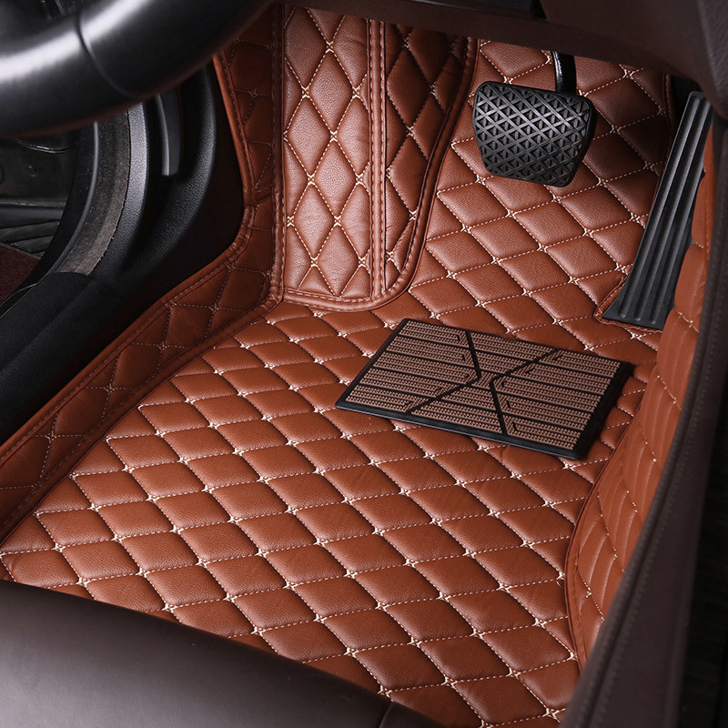 Leather Car Floor Mats <font><b>for</b></font> <font><b>Mercedes</b></font> Benz C-class <font><b>C200</b></font> C180 C300 W204 W205 W203 W202 2000-2020 <font><b>2019</b></font> 2018 2017 Car Foot Mat Rug image