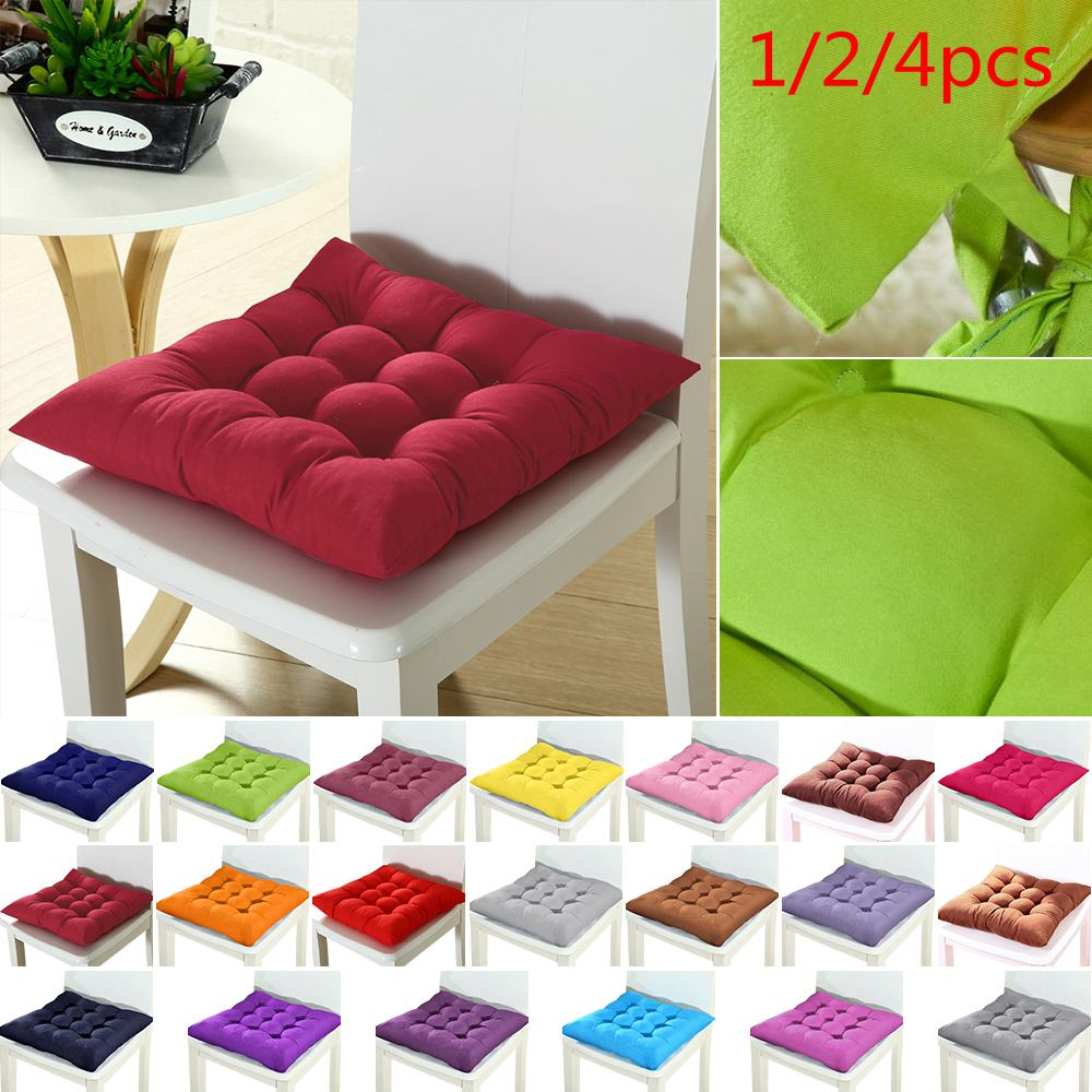 1/2/4pcs Home Chair Seat Cushion Pad Winter Office Bar Chair Back Seat Cushions Sofa Pillow Buttocks Chair Cushion 37x37cm