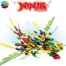 4 w 1 KAI JAY ZANE Ninja smok rycerz Model figurki klocki dla dzieci klocki zabawki prezent dla dzieci chłopców tanie tanio CN (pochodzenie) BOYS 6 lat Mały budynek blok (kompatybilne z Lego) BLOCKS Z tworzywa sztucznego
