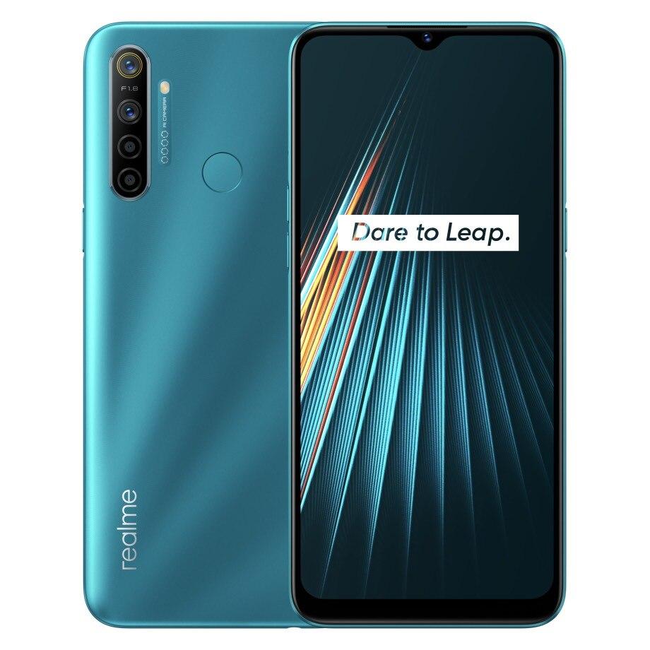 Global Version realme 5i 4GB RAM 64GB ROM Mobile Phone Snapdragon 665 AIE 12MP Quad Camera 6.5'' Cellphone 5000mAh Smartphone(China)