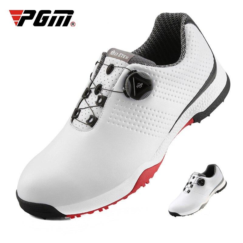 Chegada dos Homens à Prova Sapatos de Golfe Nova Dwaterproof Água Respirável Anti-skid Spikes Sapatos Masculinos Fivela Rotativa Tênis D0798