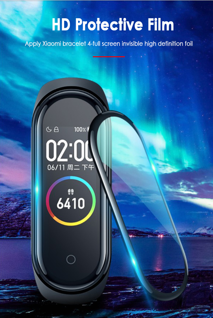 2020 1pcs Soft Screen Protector For Xiaomi Mi Band 4 Tempered Film Full Cover Case Screen Film