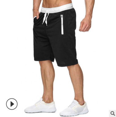 2019 Muscle Fitness Brothers New Style Summer MEN'S Beach Pants Casual Large Size Pure Cotton Shorts Short Athletic Pants