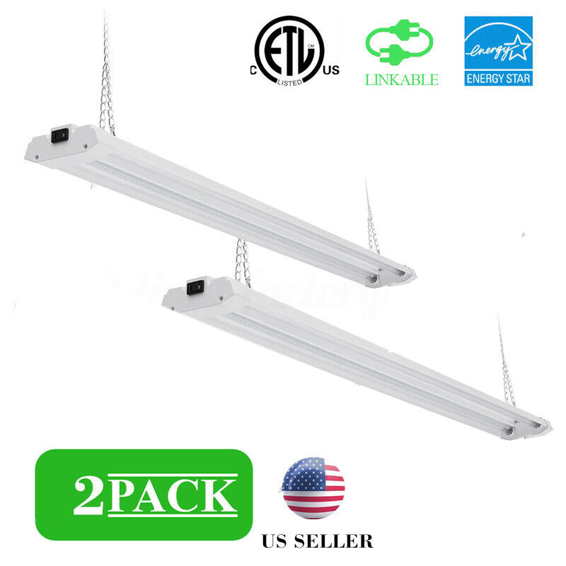 40W LED Shop light double row fixture fluorescent Clear AC100-277V US Plug for Office Home Mall 8pcs Series Connection Allowed