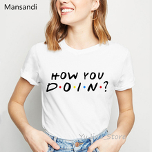how you doin letter printed t-shirt women clothes 2019 vogue t shirt camisetas mujer summer tops tee femme streetwear
