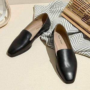 Image 4 - BeauToday Cho Nữ Nữ Da Bê Thương Hiệu Vuông Mũi Giày Slip On Nữ Đế Bằng Chất Lượng Hàng Đầu Giày Làm Bằng Tay 27089