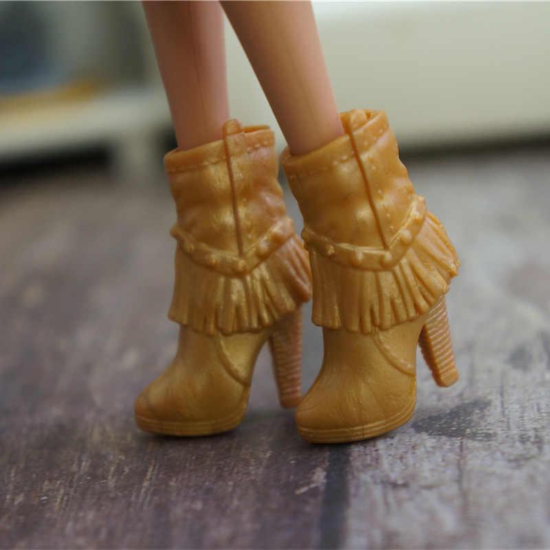 1 çift orijinal ayakkabı barbie bebek bjd 1/6 moda spor ayakkabı bebek evi giyinme sandalet fantezi kawaii aksesuarları pembe