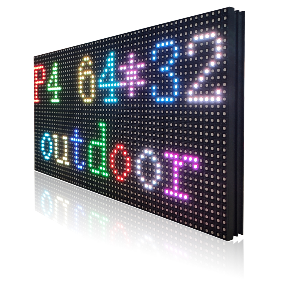 P4 Outdoor Led Display Panel Waterproof Full Color Screen Board Outdoor Led Display Module Banner Smd1921 256*128mm 64*32 Dots