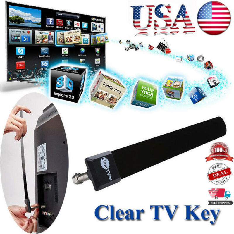 Clear Key Antenna 1080P HDTV Digital Indoor Signal Antenna 100+Free TV Channels