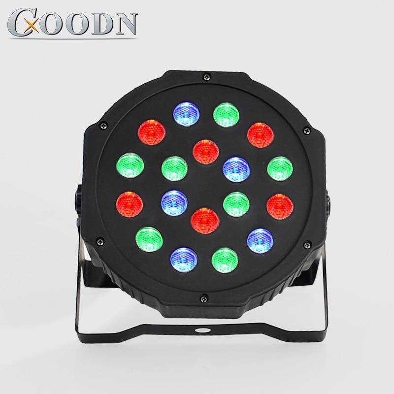 LED Par Lights 18x3W DJ LED RGB Par Lights Wash Disco Light DMX Controller Effect For Family Paty KTV Stage Lighting