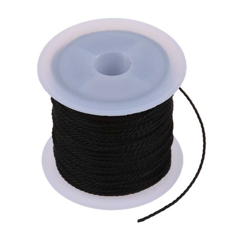 Roll Black Waxed Cotton Ketting Kralen Cord String 1mm HOT