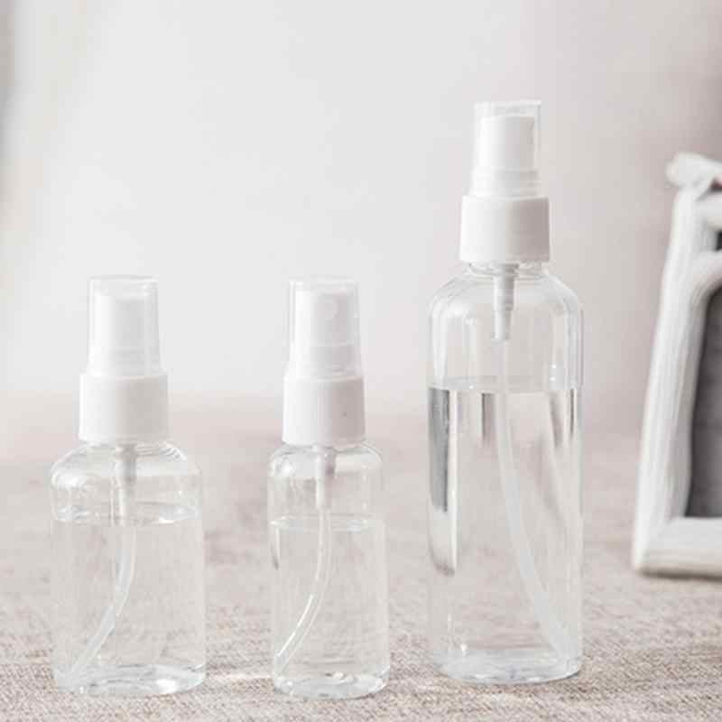 Taşınabilir seyahat parfüm şişesi 30ml 50ml 100ml doldurulabilir Mini parfüm sprey şişesi boş kozmetik kapları plastik Atomizer