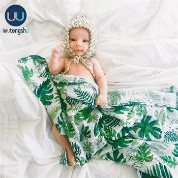 Muslin Cotton Baby Swaddles Soft Newborn Blankets Bath Gauze Infant Wrap Sleepsack Stroller Cover Play Mat Deken - discount item  39% OFF Bedding