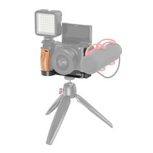 Image 5 - SmallRig A6400 L braketi plaka ile ahşap saplı Sony A6400/A6300/A6100 arca swiss standart L plaka montaj plakası 2331