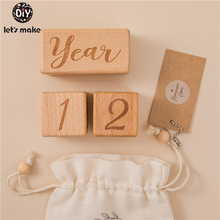 Newborn Photography Gift-Set Milestone-Cards Baby-Accessories Bathing-Gift Wooden Engraved