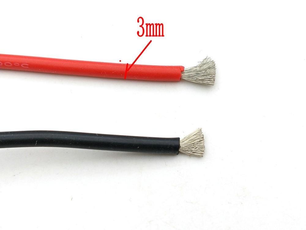 1 bobine de fil de Silicone Flexible noir/rouge, calibre de fil de Silicone de haute qualité 16 AWG 3M