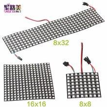 Panneau daffichage numérique Flexible avec 8,16 programmables, 8x16,8 x LED x 32 Pixels, DC5V, panneau daffichage polychrome, adressable individuellement