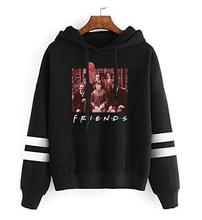 Horror Character Friends Sweatshirt Women Halloween Hoodies 2019 Fashion Streetwear Woman Clothes Casual Print Pullovers