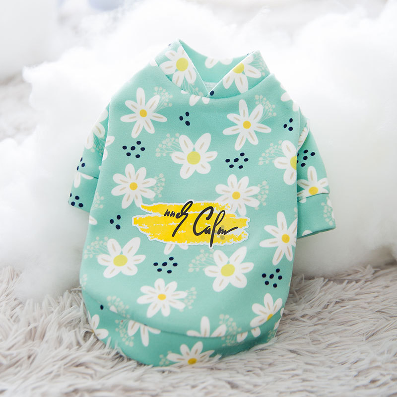 Pet Dog Shirts Clothes antumn winter Clothes floral Vest Pet Clothing Floral T-Shirt  For Small Large Dog Chihuahua teddy