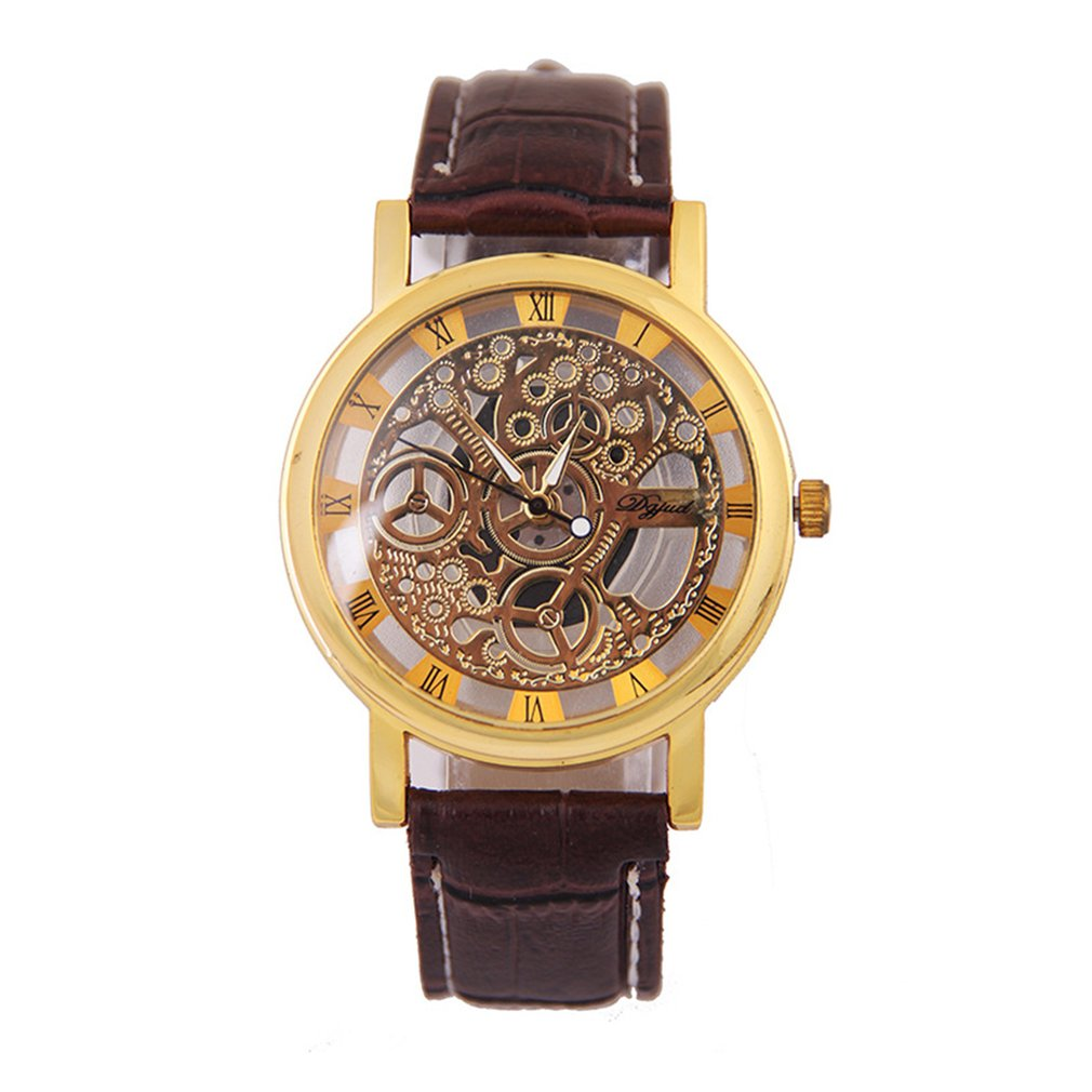 2020 Unique Creative Hollow Out Lover's Quartz Watch Couples Unisex Thin Leather Strap Casual Wrist Watch For Drop Shipping#2