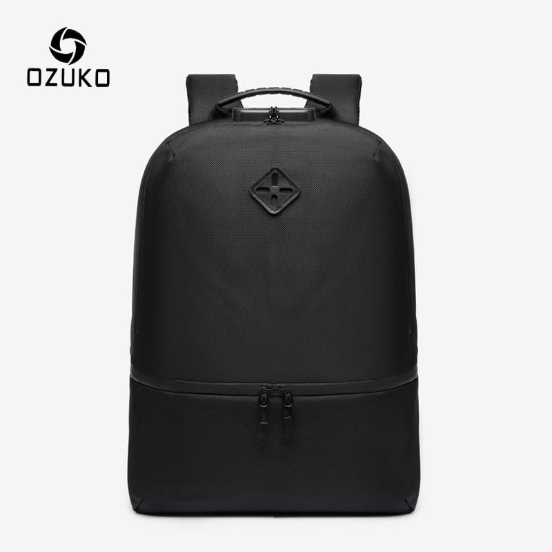 OZUKO Anti Theft Men Laptop Backpack Teenager Waterproof School Bag Leisure Women Rucksack Male Outdoor Travel Backpacks Mochila