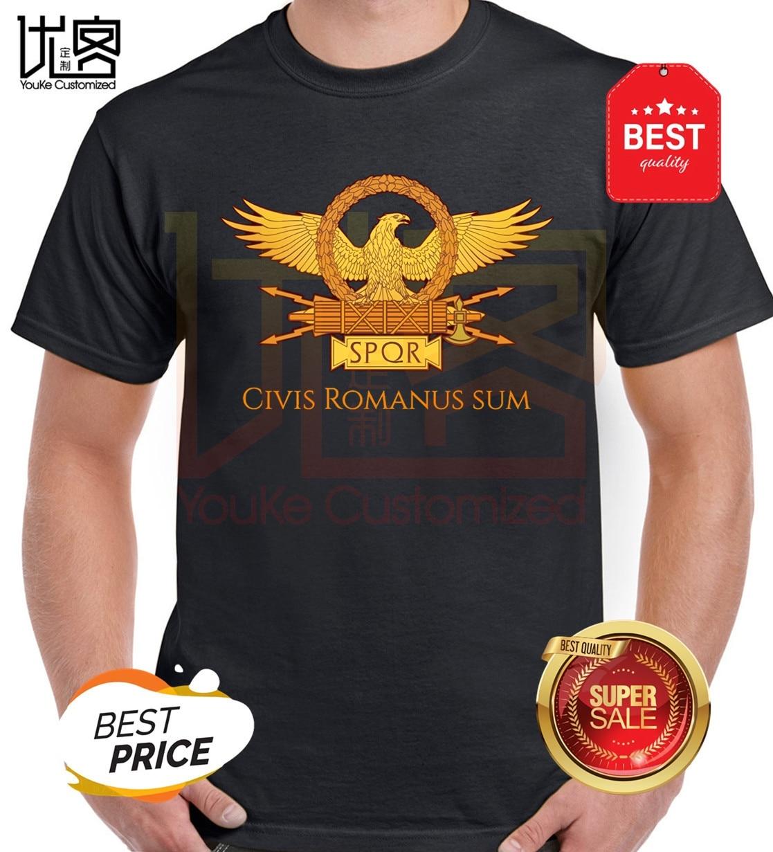 Civis Romanum Sum T-Shirt SPQR Roman Gladiator Imperial Golden Eagle 2020 Summer T Shirt