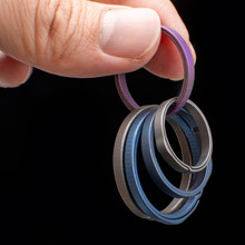 New Top Titanium Key Ring Titanium Alloy Car Key Chain Outdoor Small Tool Car Keychian Accessories K3136