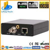 HEVC Live Broadcast RTMP Encoder HD 3G SDI To IP Encoder H.265 H.264 Transmitter For IPTV Live Broadcast Streaming Media Server