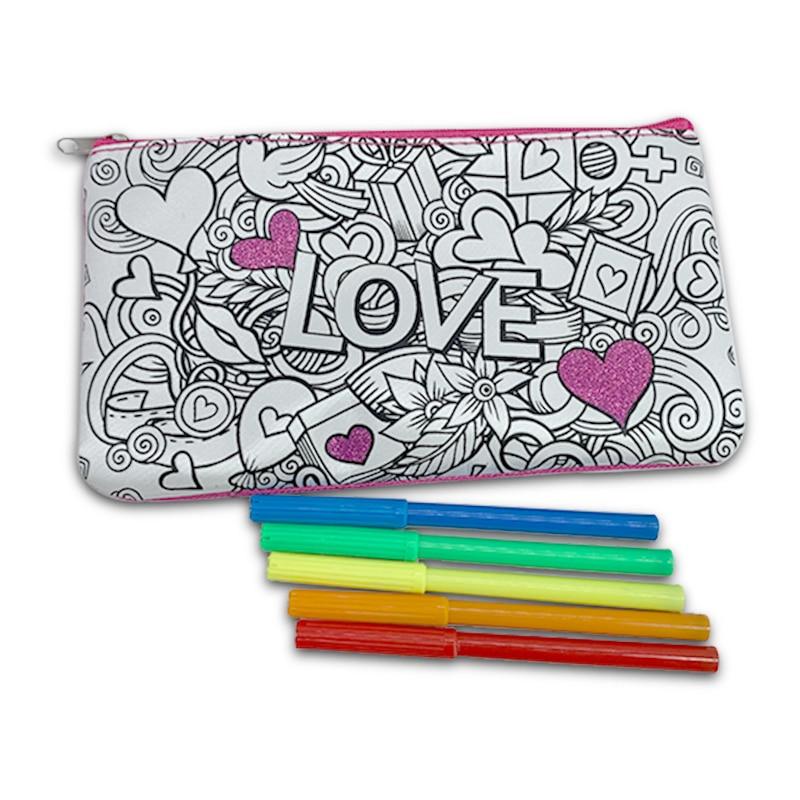 Color Your Own Pencil Case Coloring Pencil Case Pen Case